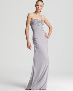 LM by Mignon Gown - Embellished Strapless Gown