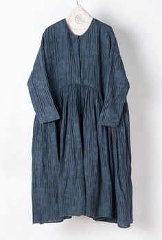 Maxi blue jacquard vintage linen dress BonLife by BonLife on Etsy
