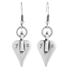 Danon Jewellery: Simple Signature Danon Heart Earrings Lovingly Hand Stamped