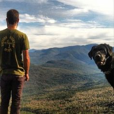 Another photo of James Willette on a training hike with favorite hiking partner.