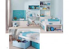 Habitación infantil con cama nido 3 cajones jugueteros.