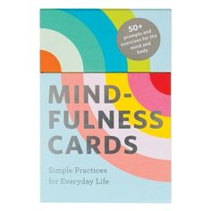 Mindfulness Cards: Simple Practices for Everyday Life Wellness Activities, Mindfulness Exercises, Practice Gratitude, Meditation Practices, Light Therapy, Card Patterns, Foil Stamping, Deck Of Cards, Prompts