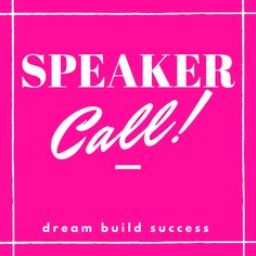 SPEAKER CALL https://link.crwd.fr/1aNx