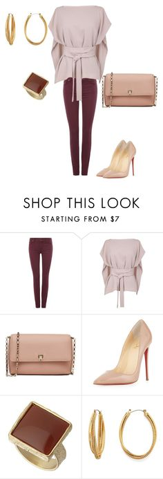"""""""Beige in style"""" by yasamant ❤ liked on Polyvore featuring 7 For All Mankind, TIBI, Valextra, Christian Louboutin, Dorothy Perkins, Diane Von Furstenberg, women's clothing, women, female and woman"""