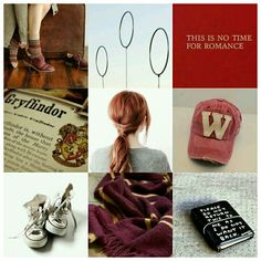 Harry Potter characters Aesthetics Ginny Weasley II by Camy Malfoy