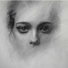 Eyes drawing by Casey Baugh Portrait Sketches, Pencil Portrait, Portrait Art, Art Sketches, Fantasy Angel, Charcoal Portraits, Charcoal Art, Sad Eyes, Art Graphique