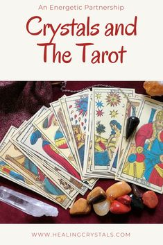 An Energetic Partnership between crystals and tarot or oracle cards #crystals #tarot #cards #tarotcards