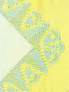 Tapetes de Crochê: Barrado com canto