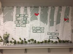 Winter bulletin board for the office at school.
