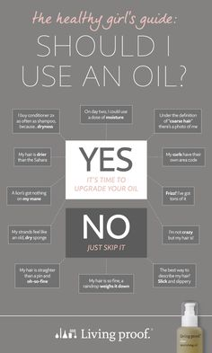 Does your hair need an oil?