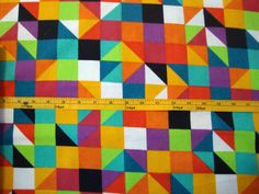 Colorful Squares Snuggle Cotton Flannel Sewing or by flyingdollar, $9.99-LIMITED SUPPLY just added to shop.