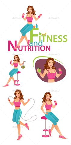 Fitness and Nutrition Character