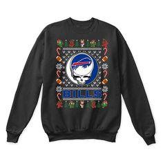 Buffalo Bills x Grateful Dead Christmas Ugly Sweater - The Daily Shirts  thedailyshirts.com/ #BuffaloBills #Christmas #
