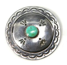 Pendants - Navajo Turquoise and Silver Pin/Pendant