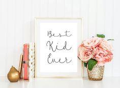 Meilleur Kid jamais Print pépinière heureux par UlianaPrintables
