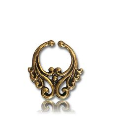 Faux Nose Ring  Septum Ring  Fake Septum Piercing  by NELAJAPAN