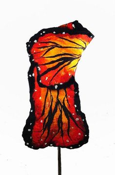 Felted Scarf Butterfly Wrap Felt Scarves Nunofelt Scarf Nuno felt Silk Silkyfelted Eco shawl Fiber Art
