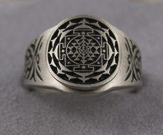 Sri Yantra Pewter Ring