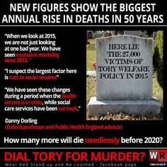 Look at the graph in the article and you will see death rates steadily falling from the early 1970's each year until 2010 - then it shoots up - In fact Oxford Professor, Danny Dorling states that as a trend the growth over the last few years under the Tories is the steepest rise sine WW2!    http://indy100.independent.co.uk/article/theres-just-been-the-biggest-spike-in-deaths-for-50-years--by0k9vvM0g