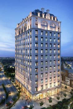 Hotel architecture in luxury style and design! Condominium Architecture, Hotel Design Architecture, Facade Architecture, New Classical Architecture, Classic Architecture, Beautiful Architecture, Facade Lighting, Classic Building, Tower Design