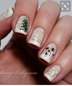 I have something nail art related for Christmas. Have a glare at the accumulation of 20 Christmas snow nail art designs & ideas of these Xmas nails are adorable and will compliment your Christmas attire. Holiday Nail Designs, Holiday Nail Art, Winter Nail Art, Christmas Nail Art, Winter Nails, Nail Art Designs, Christmas Trees, Nails Design, Winter Art