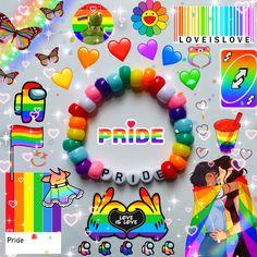 Diy Kandi Bracelets, Rave Bracelets, Bracelet Crafts, Easy Perler Bead Patterns, Kandi Patterns, Beading Patterns, Funky Jewelry, Cute Jewelry, Beaded Jewelry
