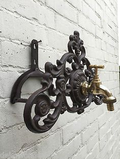 Tap Hose Holder Water Hose Holder Cast Iron Home Garden Antique Style
