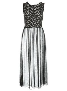 LOVE IT! so sexy.  i need a party to which to wear this.   CORNELLI SHEER MAXI