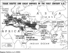 Trade routes - 1st Century AD