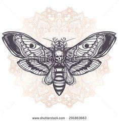 geometric mandala moth pyramid skull - Google Search