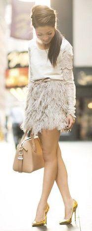cute light grey mini skirt