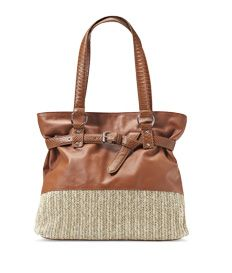 How to start the season in style...in anything straw! Our embellished, belted tote exudes summer's easy-chic attitude.