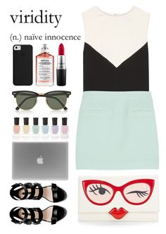 """""""A RIFT IN SPACE AND (SUMMER)TIME"""" by laughtersassassin ❤ liked on Polyvore featuring Deborah Lippmann, Zara, Ray-Ban, Kate Spade, Maison Margiela, Balenciaga, T By Alexander Wang and MAC Cosmetics"""