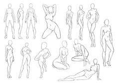 65 Ideas for drawing anime poses human figures Drawing Female Body, Body Reference Drawing, Drawing Body Poses, Female Body Art, Human Figure Drawing, Art Reference Poses, Woman Drawing, Female Form, Anatomy Reference
