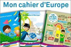 Gratuit.  Un cadeau du gouvernement.  Lecture, geographie, maths... Découvrez mon cahier d'Europe