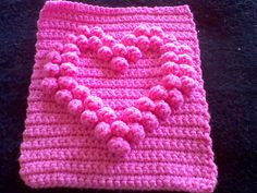 Ravelry: Hollow Bobble Heart Square pattern by Laura Majeski   http://www.ravelry.com/patterns/library/hollow-bobble-heart-square#