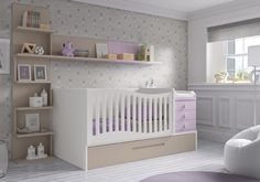 Lit bebe etagere chambre ado fille в 2019 г. детский декор, дети и детские. Baby Boy Room Decor, Baby Room Design, Baby Bedroom, Baby Boy Rooms, Baby Cribs, Bedroom Sets, Kids Bedroom, Baby Bedding Sets, Dream Baby