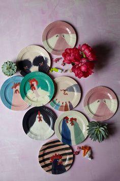 Gallus Dessert Plate - anthropologie.com    ROBIN  6 plates