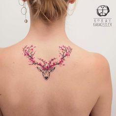 KORAY • KARAGÖZLER (@koray_karagozler): «• Spring is Nature's way of saying, 'Let's Party!' • . . . #deer #nature #tattoo #flower…»