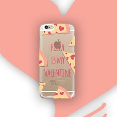 Clear TPU Case Cover - Pizza Is My Valentine