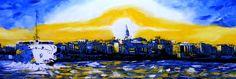 İstanbul - 2 by Mesut Kırmızıgül - TÜYB / #Oilpainting - 100cm x 50cm  #gallerymak #sanat #ressam #modernsanat #istanbul #istanbulbogazi #bosphorus #resim #vapur #guzel #bogazici #contemporaryart #painter #artforsale #artmarket #exhibition #turkey #manzara #oiloncanvas #paintings #artgallery #contemporaryartcurator #ressamlar #atölye #atolye #turkey #turkiye #tablo #deniz