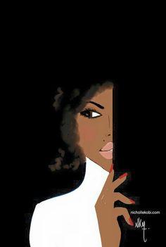 Afro vintage girl -Nicholle Kobi