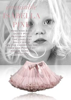 DOLLY by Le Petit Tom ® ISABELLA PINK pettiskirt rose & dusty pink