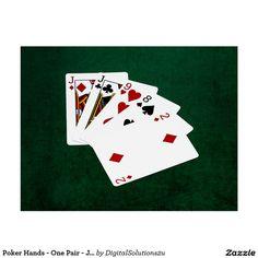 Poker Hands - One Pair - Jack Postcard