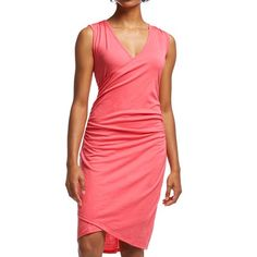 Icebreaker Aria Dress - UPF 20+, Merino Wool, Sleeveless (For Women) in Grapefruit