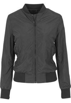Urban Classics Ladies - LIGHT BOMBER Jacket black at Amazon Women's Coats Shop