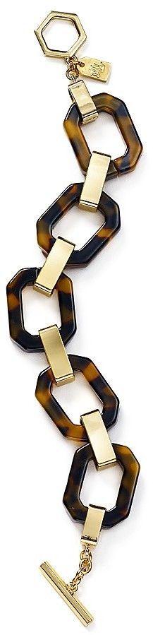 Lauren Ralph Lauren Faux Tortoise Shell Chain Bracelet
