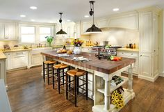#LGLimitlessDesign #Contest Kitchen island with bucther block countertop used like table