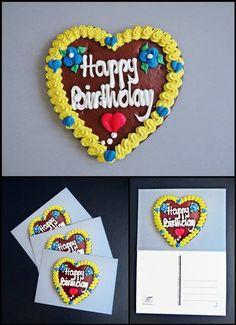 Wiesnherz: Happy Birthday von Art-MG auf DaWanda.com