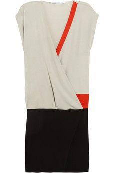 Yukie wrap-effect crepe dress by Diane von Furstenberg